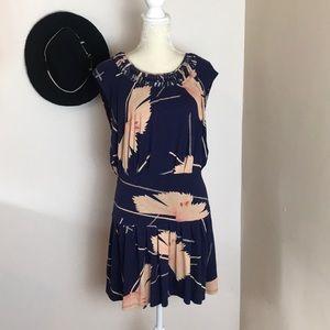 anthropologie • leifnotes drop waist floral dress